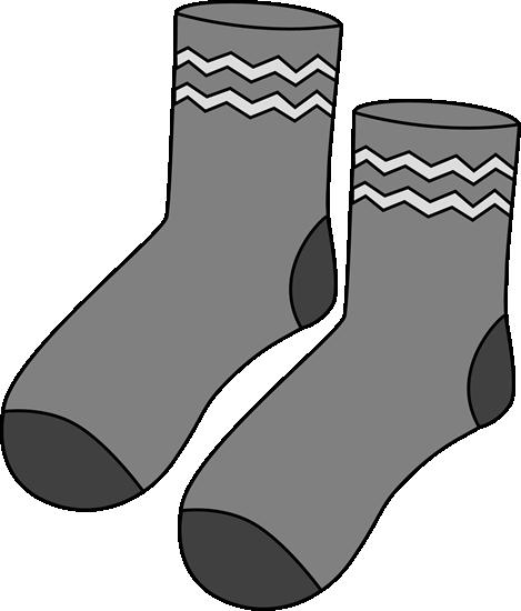 Gray Pair of Socks.