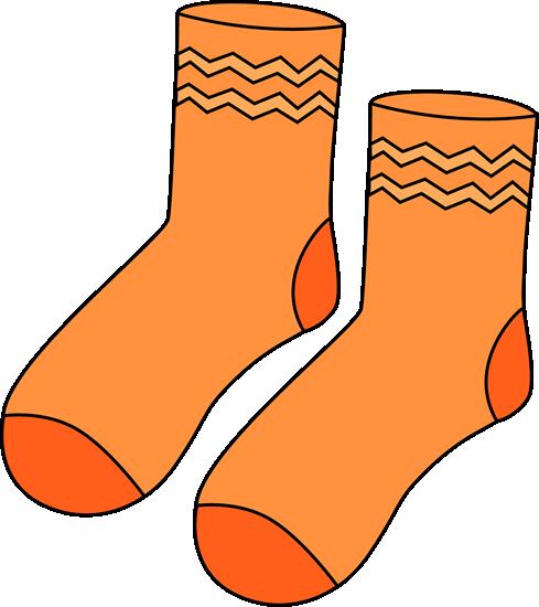 Pair of Orange Socks.