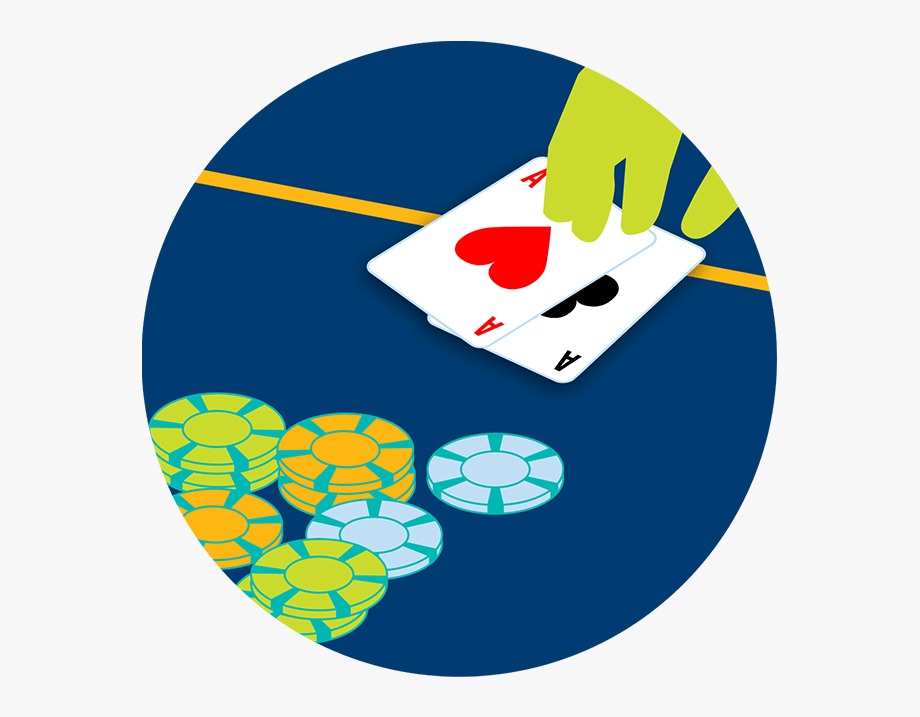 A Hand Is Seen Displaying A Pair Of Aces.