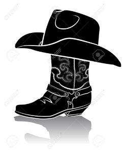 Pair Of Cowboy Boots Clipart.
