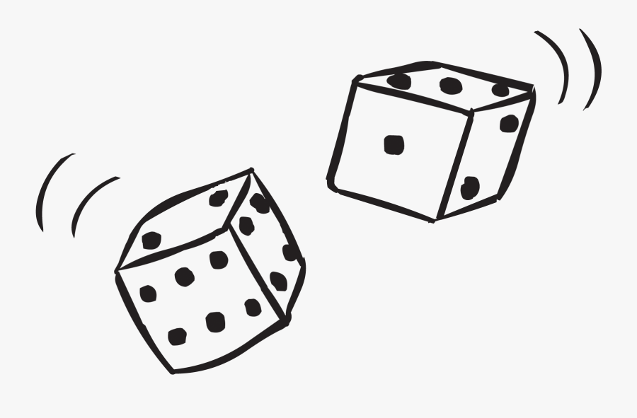 Pair Of Dice Being Rolled In Double Dice Game , Free.