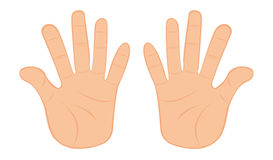 Sketch Of Pair Of Hands Vector Clipart.