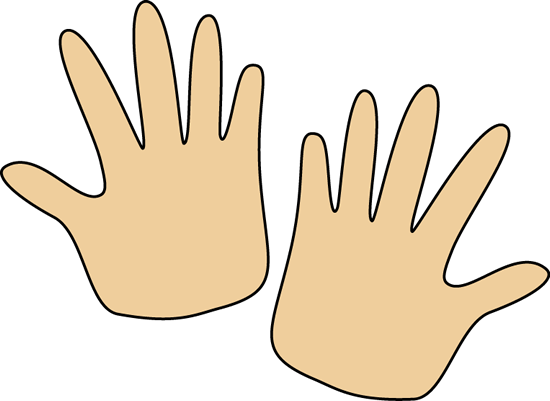 Pair of Hands Clip Art Image.