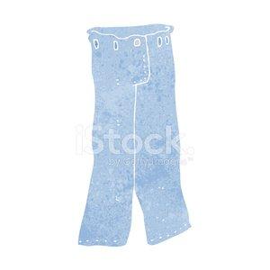 Cartoon Pair of Jeans premium clipart.