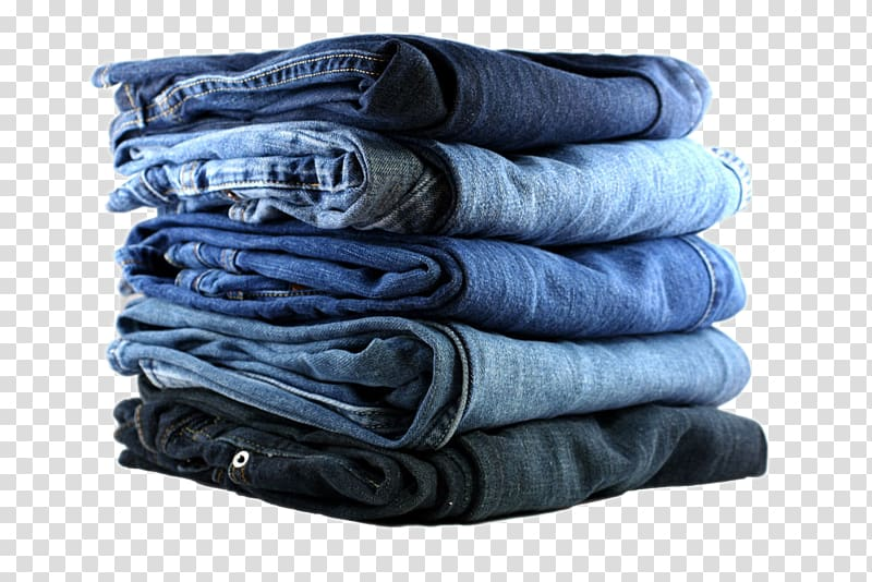 Five blue denim bottoms , Jeans Denim Clothing Fly, A.