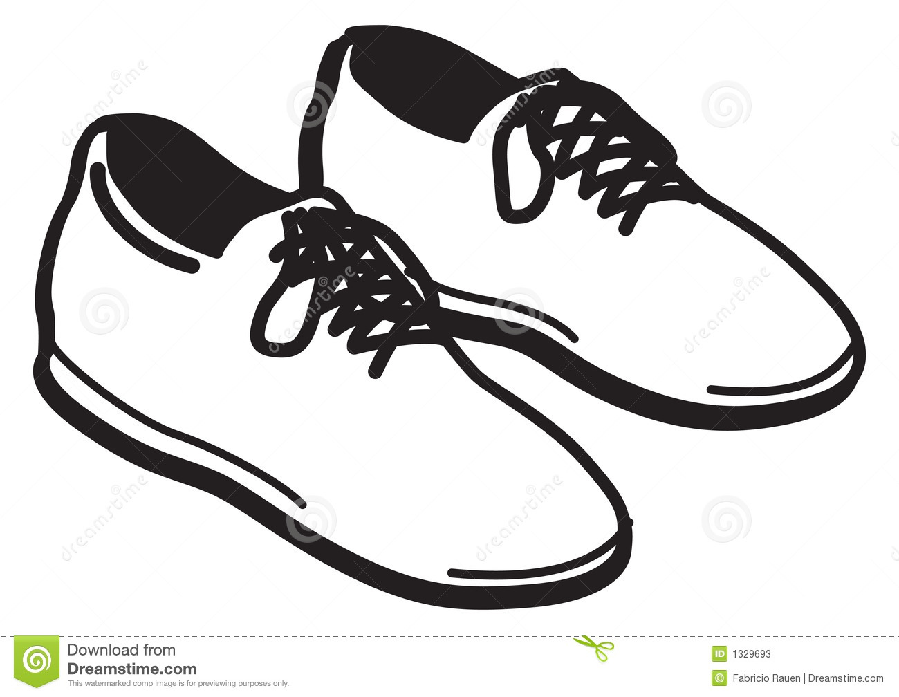 Cartoon Pair Shoes Clipart.