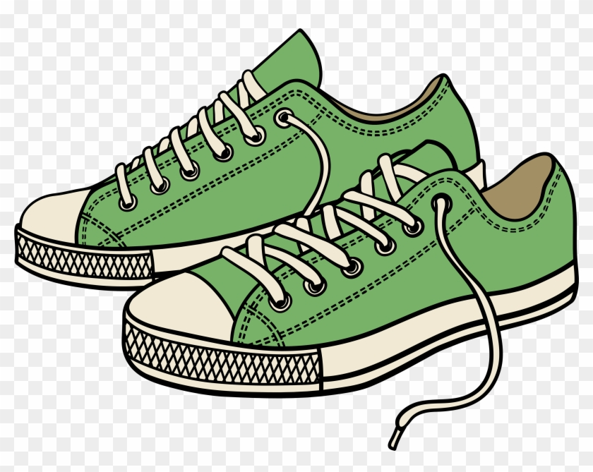 Green Sneakers Png Clipart.