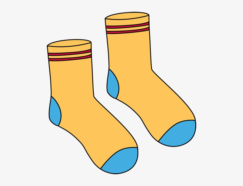 Pair Of Yellow Socks Clip Art.