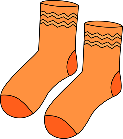 Pair of Orange Socks.