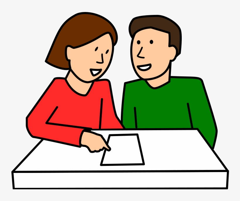 Download Free png Pair Clipart Talking Partner.