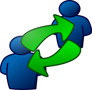 Work in pairs clipart.