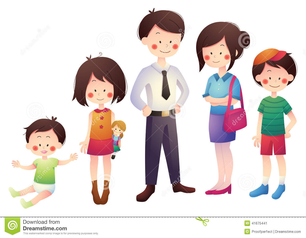 Cartoon mother father and baby pictures clipart.