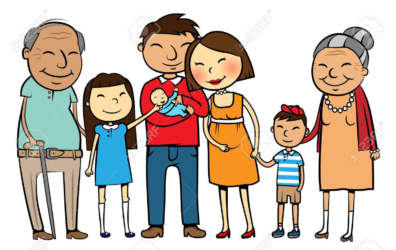 Clipart pais e filhos.
