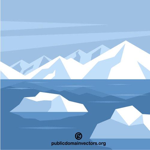 Paisagem do Ártico vetor clip.