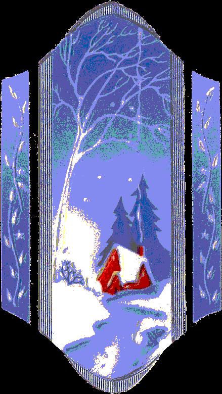 paisajes navideños en png, sin fondo.