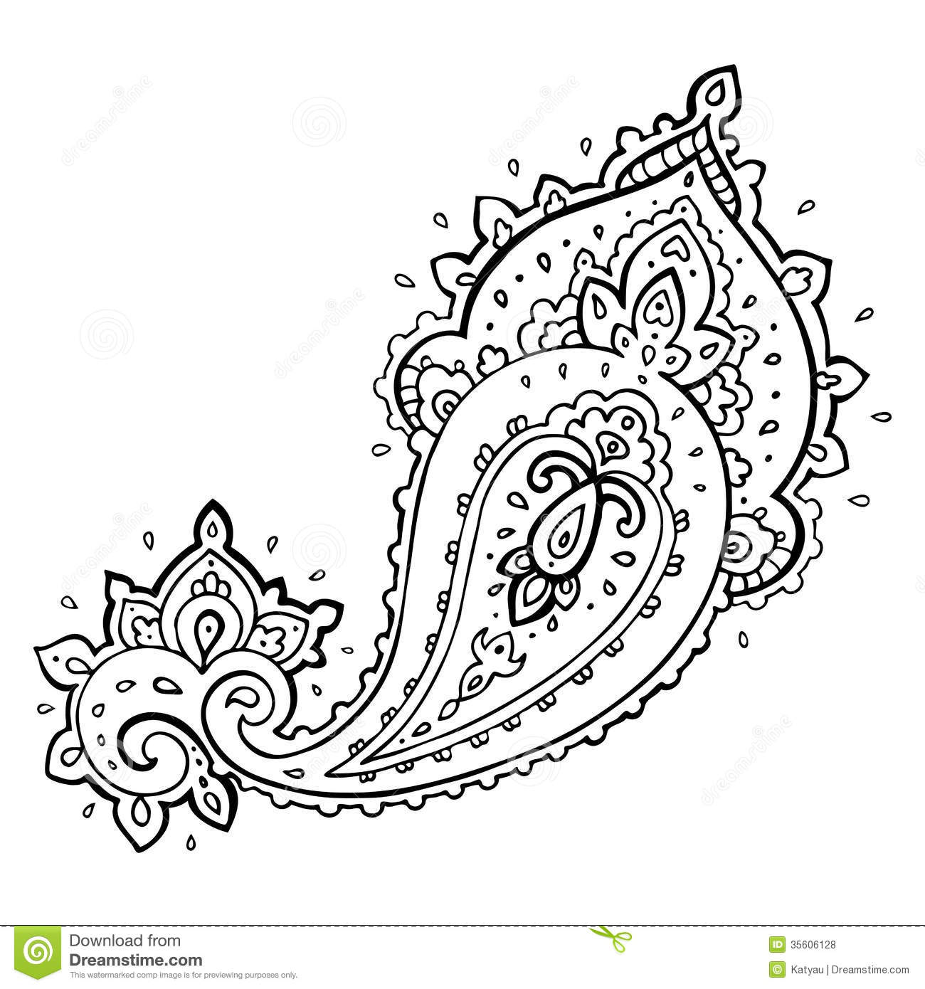 Free paisley clipart.