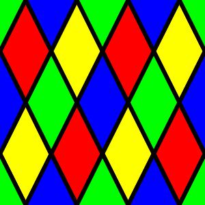 Diamond Harlequin 3 Pattern Clip Art at Clker.com.
