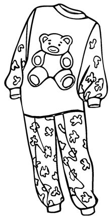 Pajamas for a Girl coloring page.