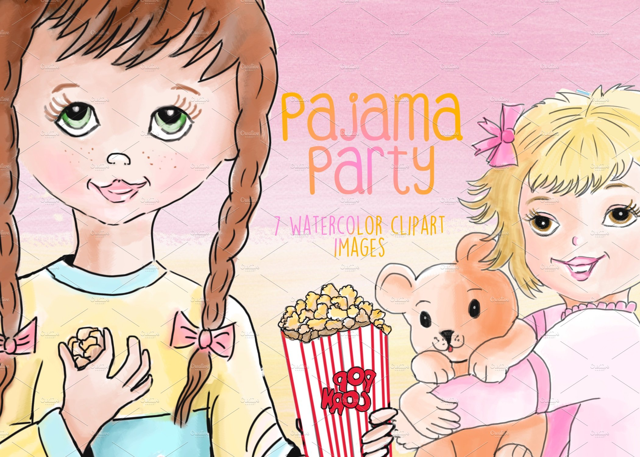 Pajama Party Clipart Images.