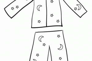 Pajamas clipart black and white 4 » Clipart Station.