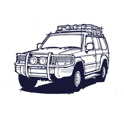 Mitsubishi Pajero drawing.