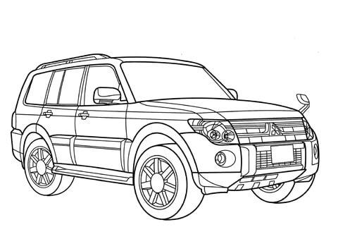 Mitsubishi Pajero coloring page.