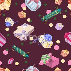 Nahtlose Muster mit Geschenk.