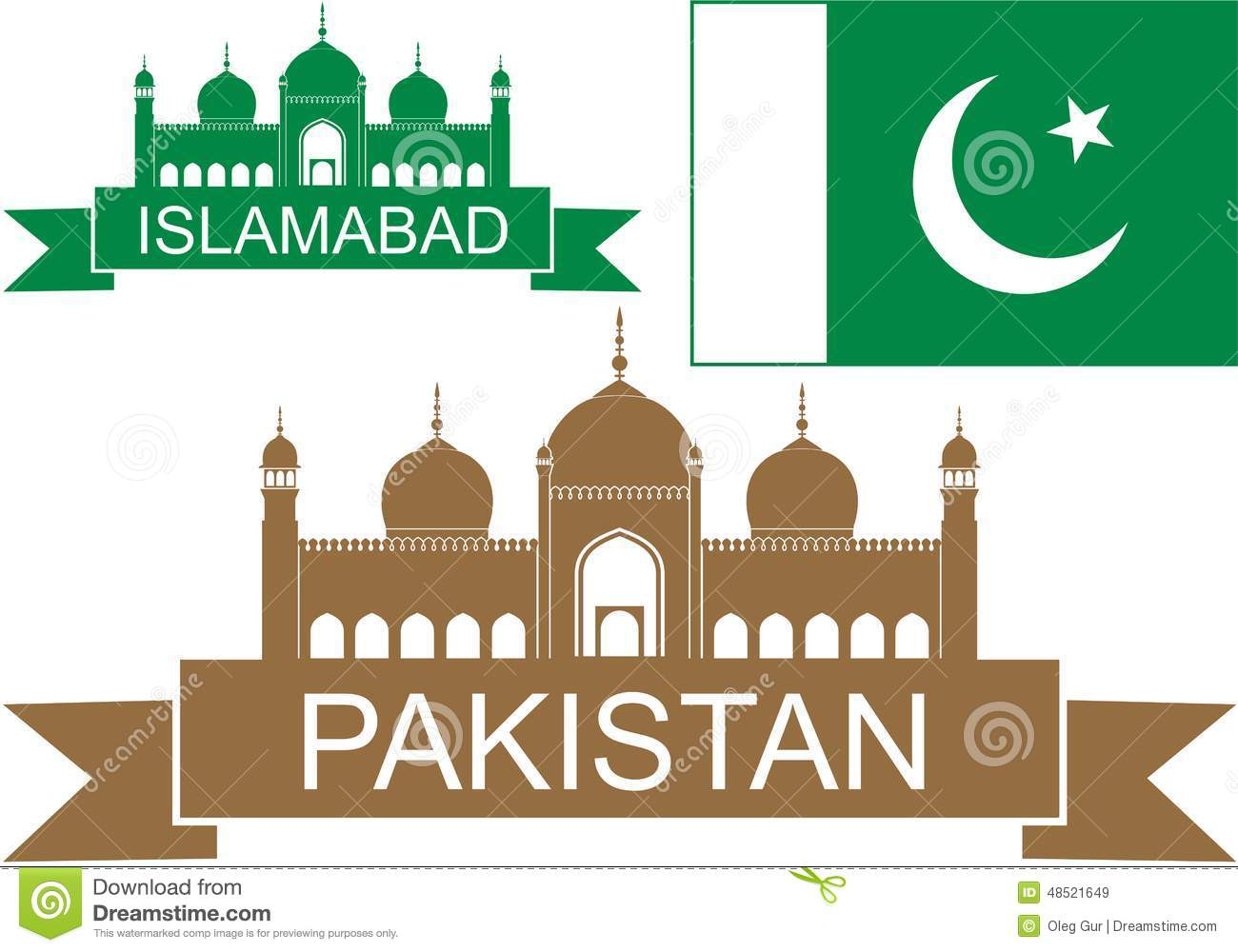 Pakistan Monument Stock Illustrations.