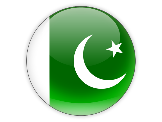 Round icon. Illustration of flag of Pakistan.