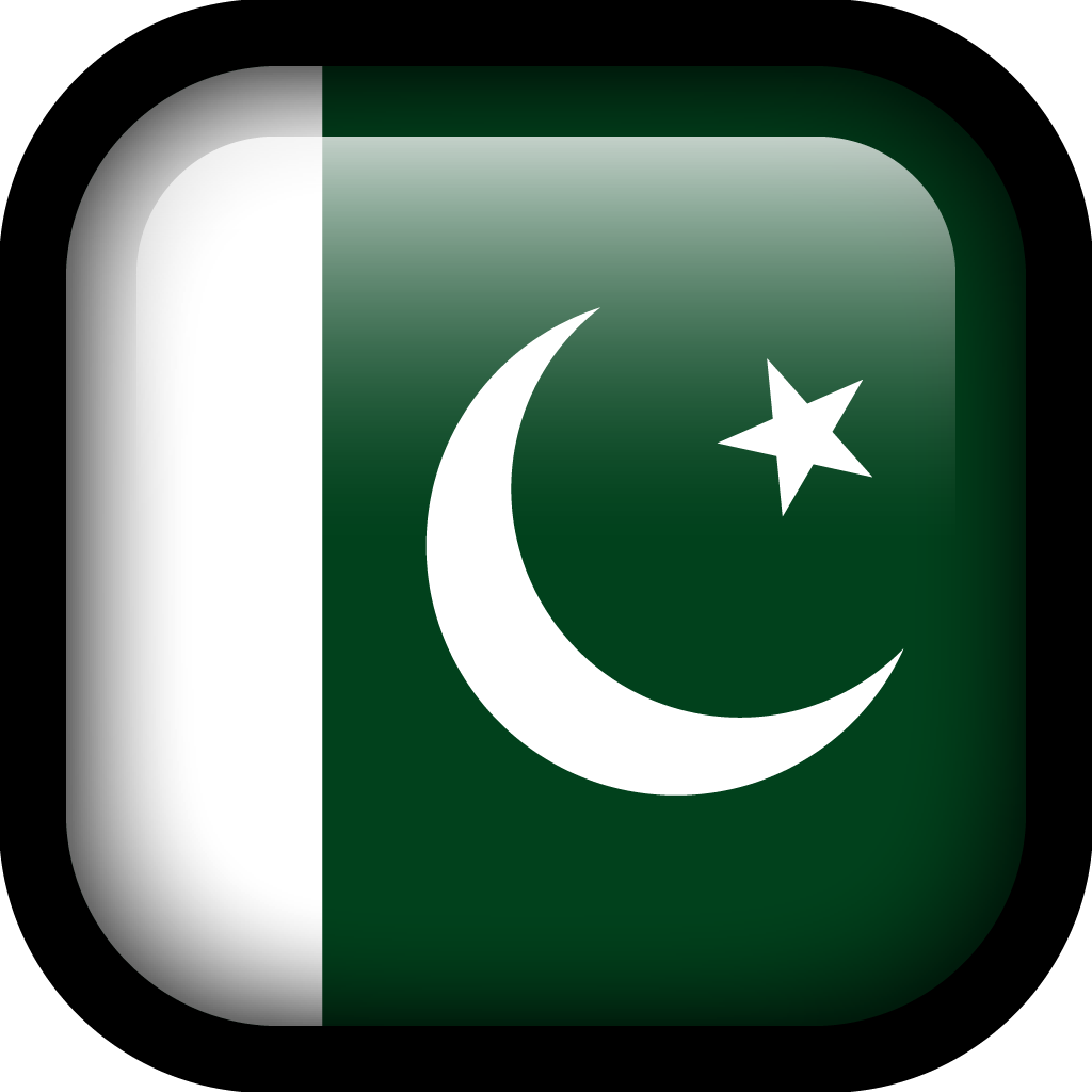 Pakistan Flag Icon.