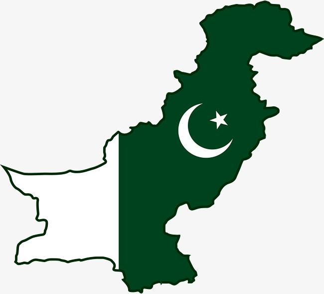 Pakistan Map Clipart.