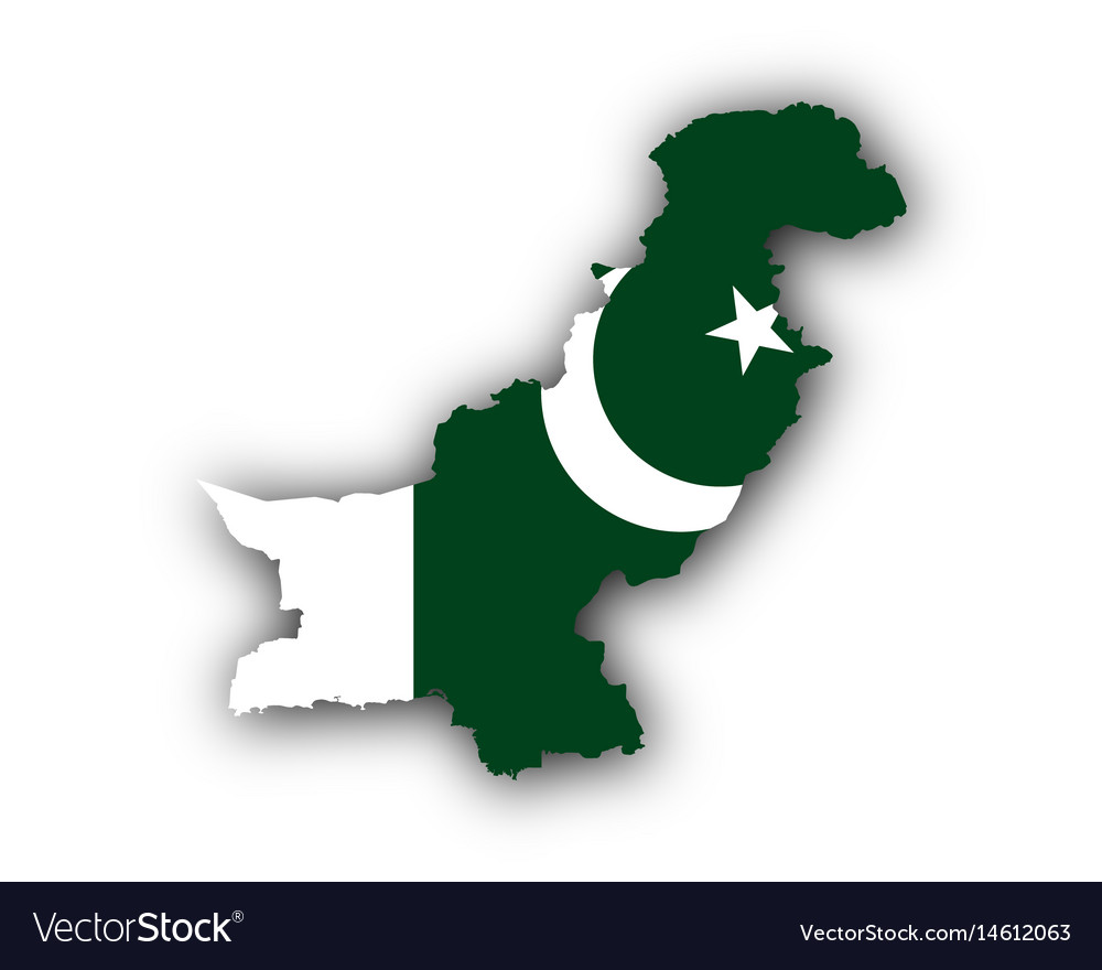 Map and flag of pakistan.