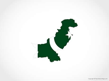 Vector Map of Pakistan.