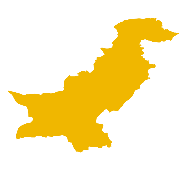 Pakistan Map Outline.
