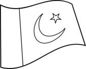 Free Black and White World Flags Outline Clipart.