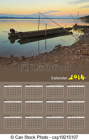 Stock Photography of Fishing boats in the Mekong River, Pakse.