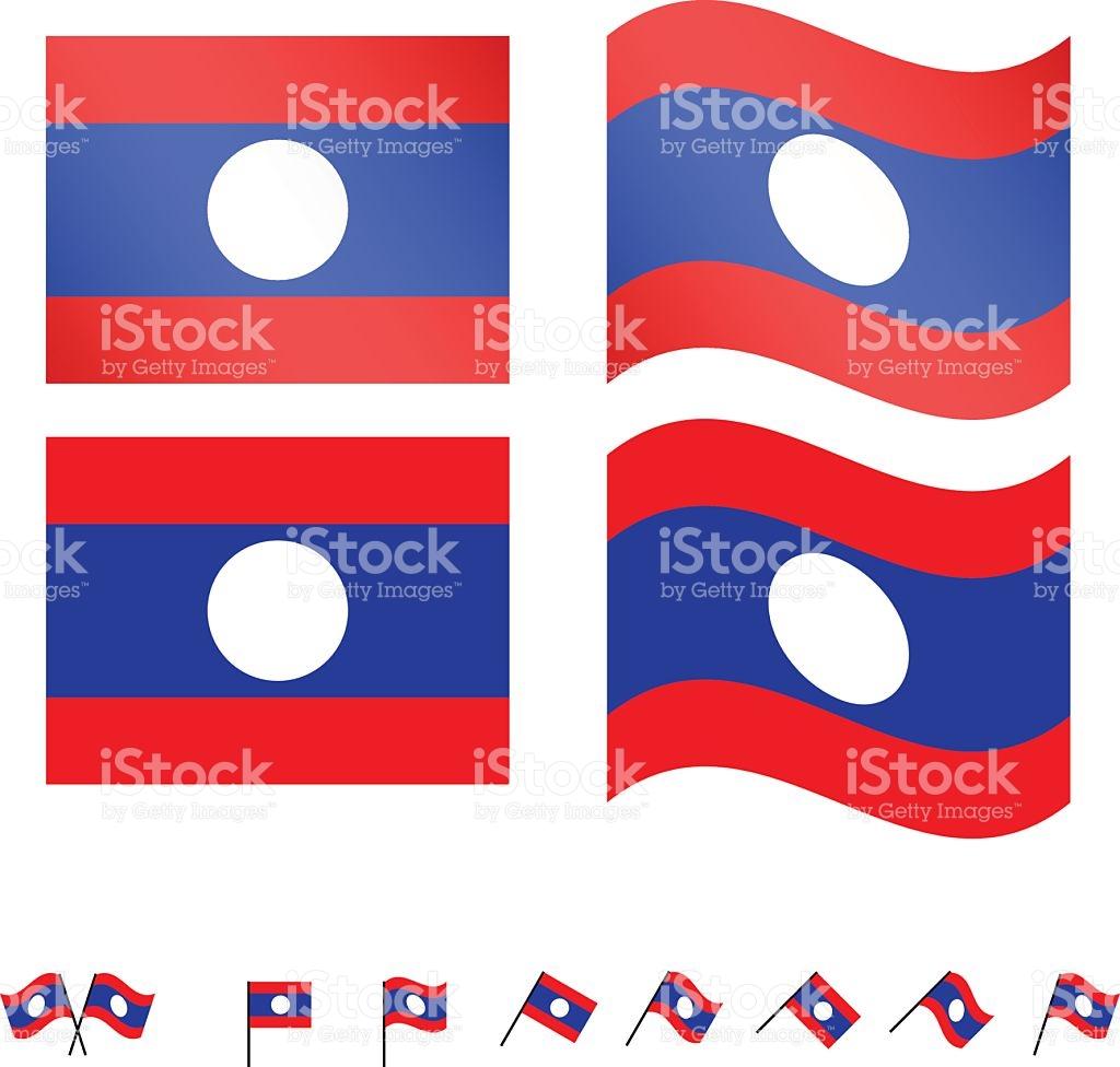 Laos Flags stock vector art 464712726.