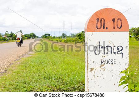 Pictures of 10 kilometer milestone on the National Highway 16E and.