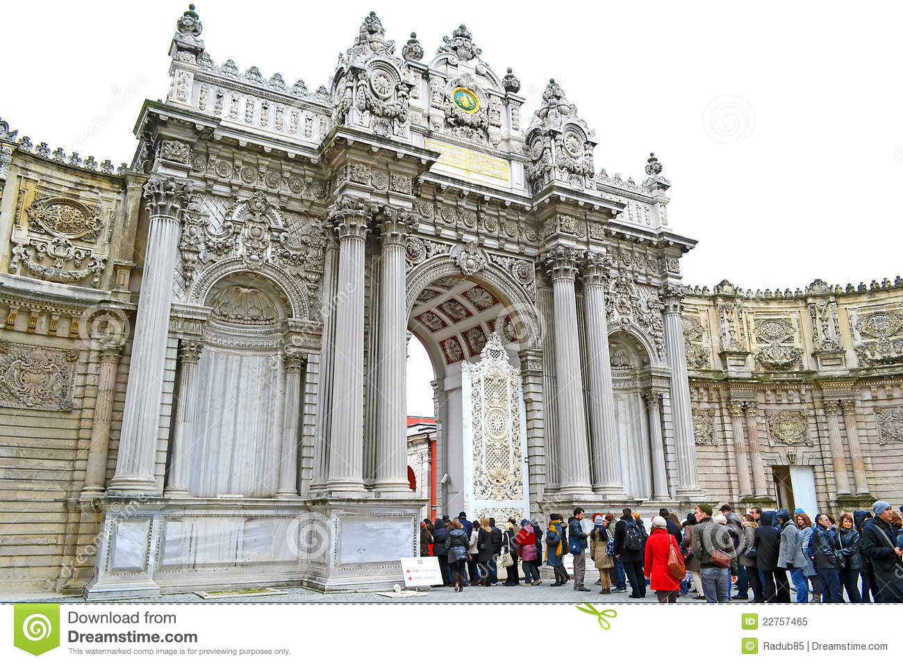 Dolmabahce Palace Gate Editorial Image.