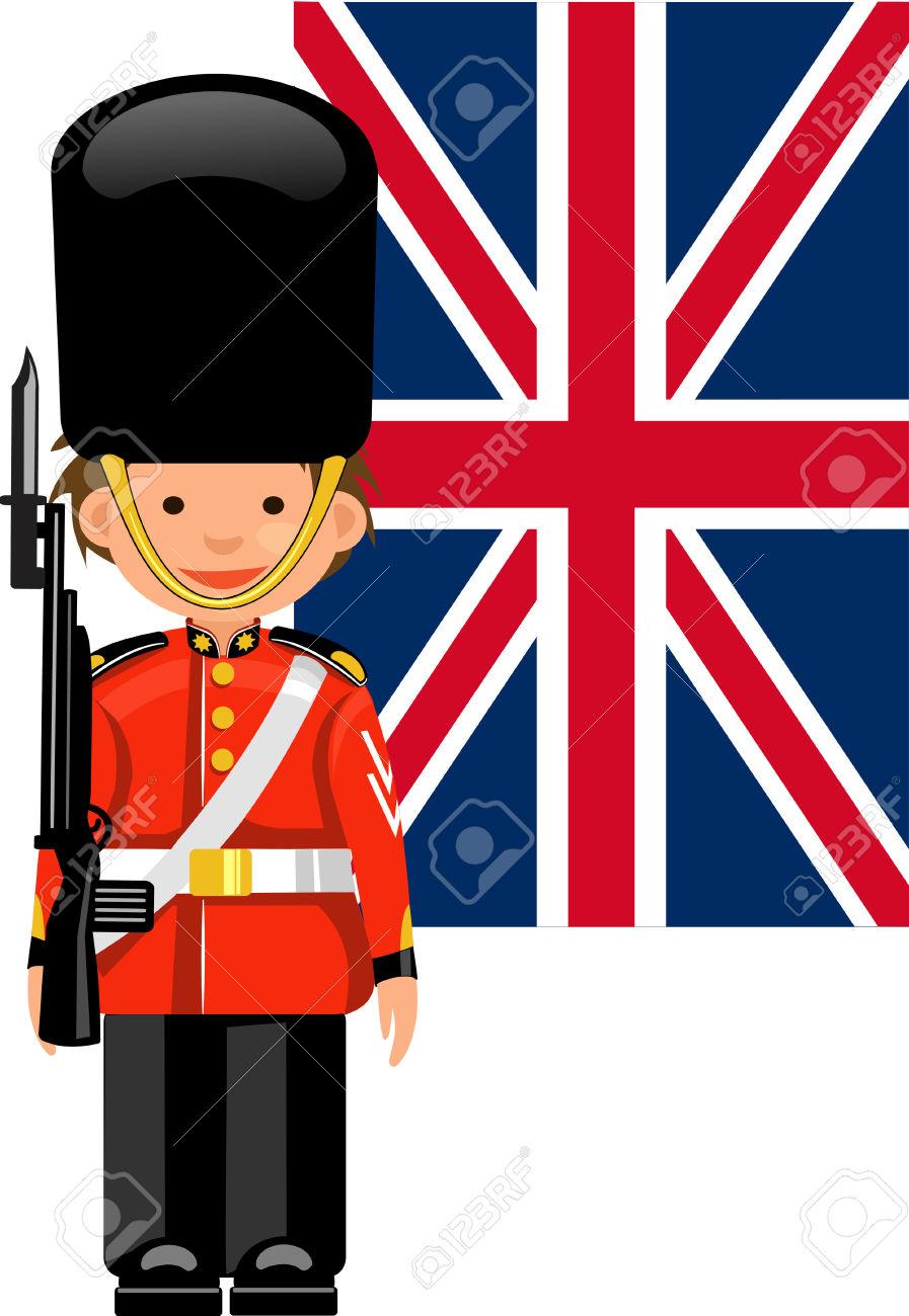 A Royal Guard At Buckingham Palace Royalty Free Cliparts, Vectors.