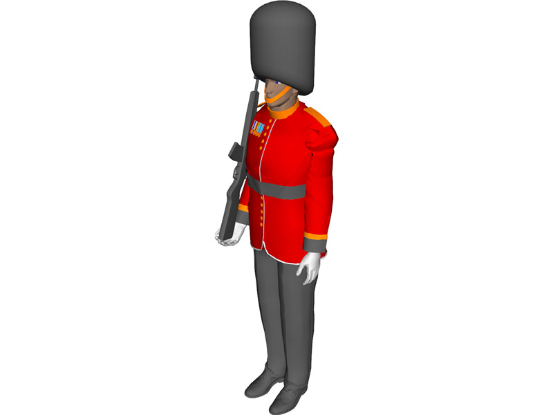 Buckingham palace guards clipart.