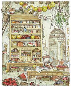 The Palace Kitchen Drawing by Brambly Hedge.