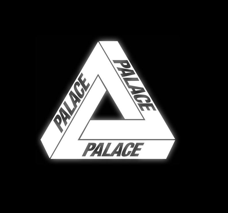 Palace skateboards logo.