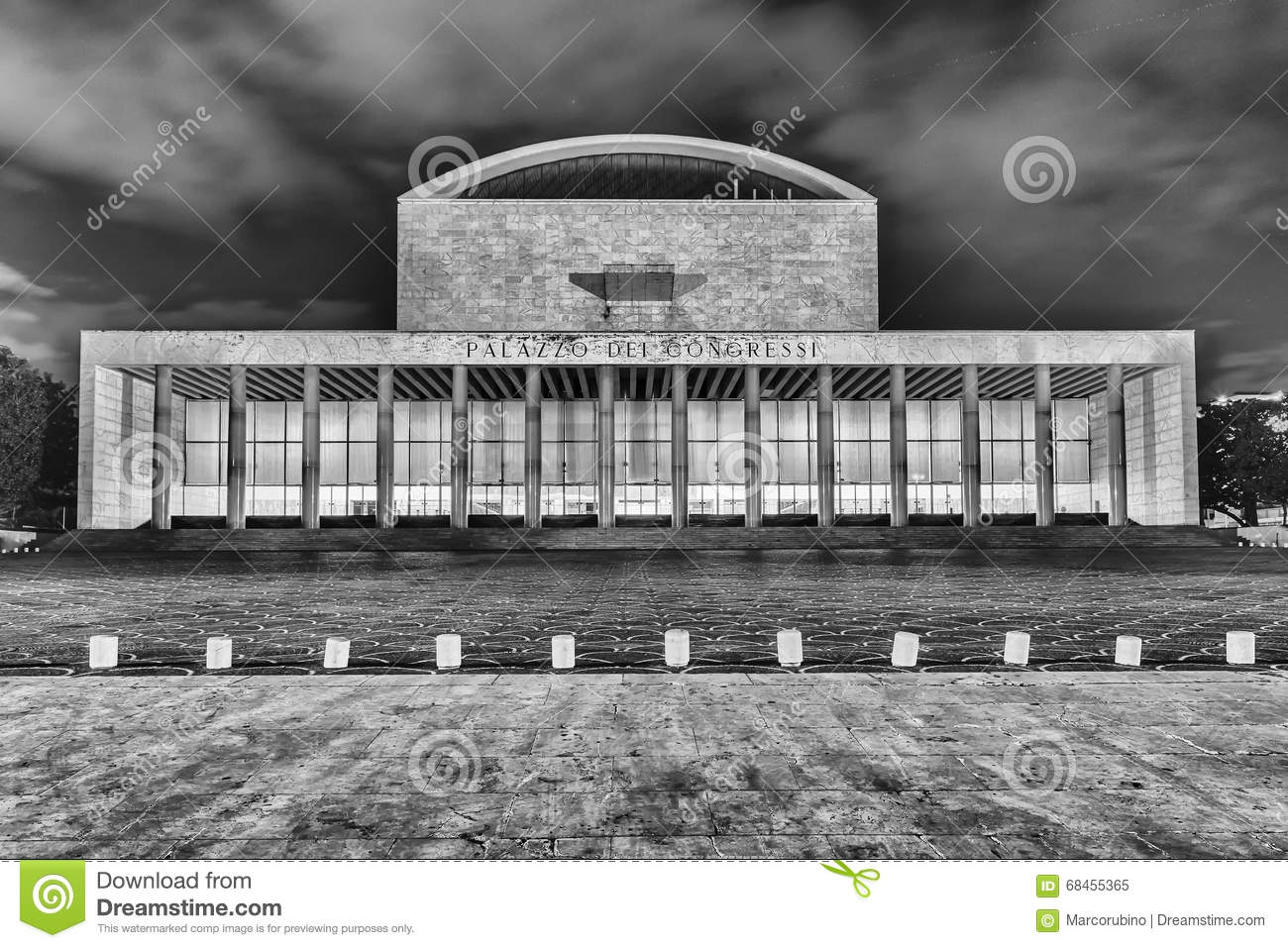 Palace Of Congress, Eur District, Rome, Italy Stock Photo.