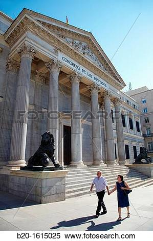 Stock Image of Congress of Deputies, Palace of the Spanish.