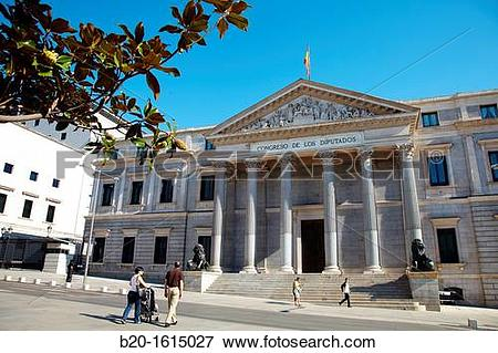Picture of Congress of Deputies, Palace of the Spanish Parliament.