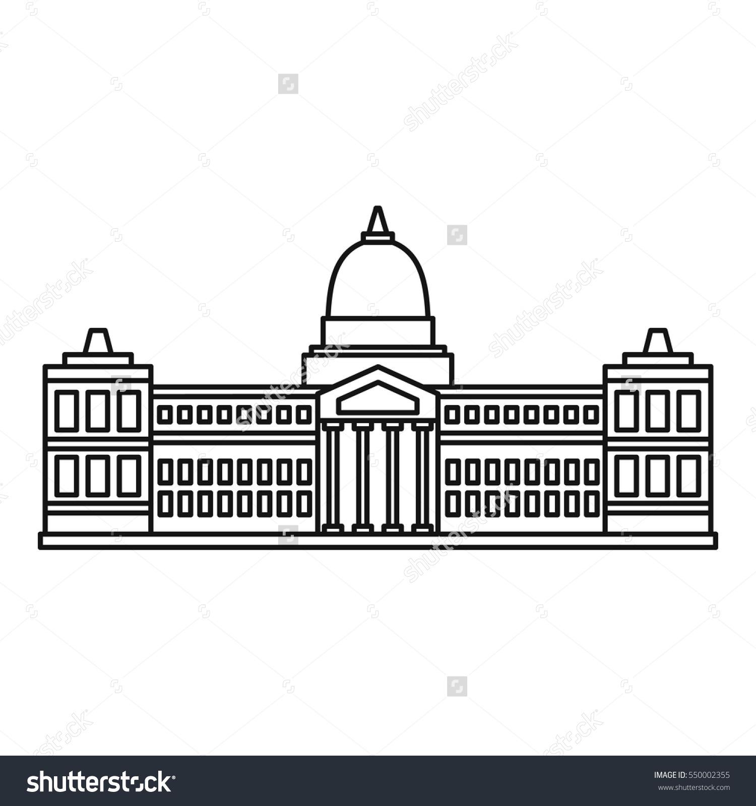 Palace Congress Buenos Aires Icon Outline Stock Vector 550002355.