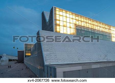 Stock Images of Palace of Congress in Saragossa designed by.