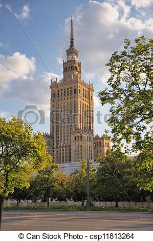 Stock Image of Palace of Culture and Science, Warsaw, Poland.