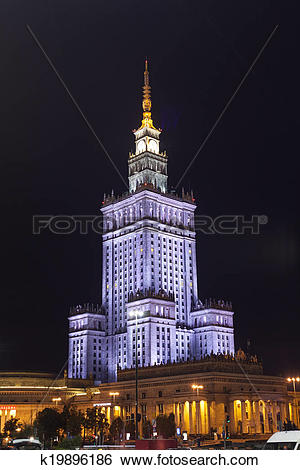 Stock Images of Palace of Culture and Science in Warsaw k19896186.